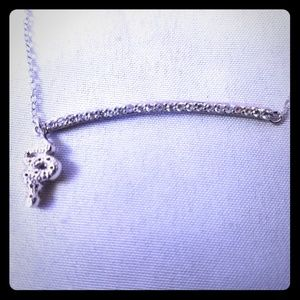 Snake and diamond bar necklace!